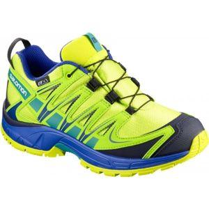 Salomon XA PRO 3D CSWP K zelená 27 - Dětská běžecká obuv