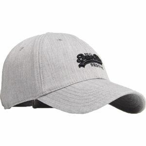 Superdry ORANGE LABEL CAP šedá UNI - Pánská kšiltovka