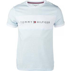 Tommy Hilfiger CN SS TEE LOGO FLAG  M - Pánské tričko