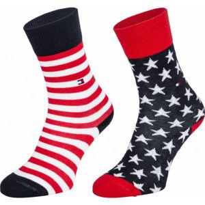 Tommy Hilfiger KIDS SOCK 2P STARS AND STRIPES  35/38 - Dětské ponožky