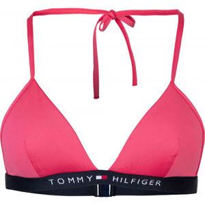 Tommy Hilfiger TRIANGLE FIXED červená M - Dámský vrchní díl plavek