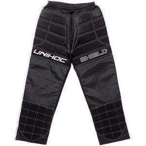 Unihoc SHIELD PANTS černá L - Florbalové brankářské kalhoty