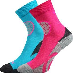 Voxx LOXIK 2P růžová 14-16 - Dětské froté ponožky