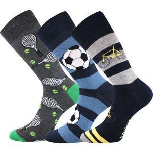 Voxx S-BOX pánská 3pack černá 29-31 - Pánské ponožky